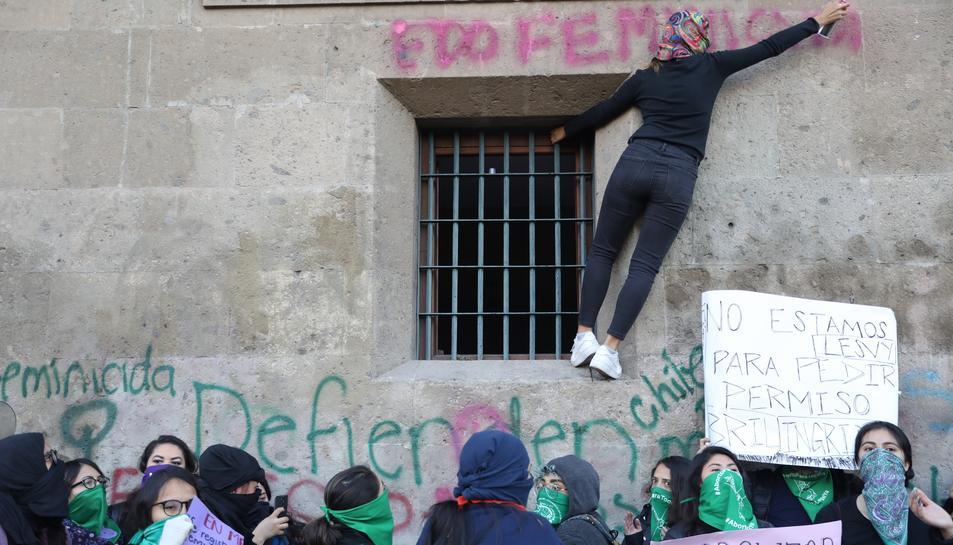 Una protesta a Ciudad de México pel feminicidi de Fátima de 7 anys, la setmana passada.