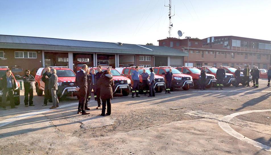 Aquest divendres s'ha fet la presentació dels nous vehicles dels bombers.