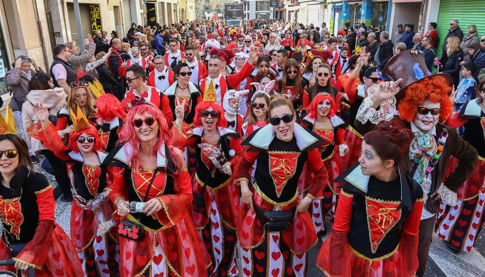 Rua de lluïment del Carnaval de Reus