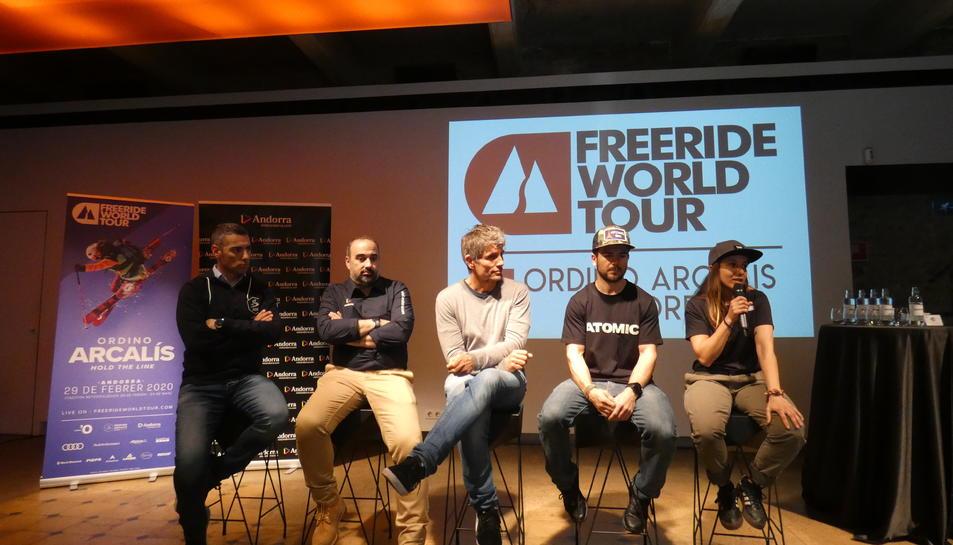 La presentació de la tercera prova del Freeride World Tour s'ha realitzat aquest matí a Barcelona.