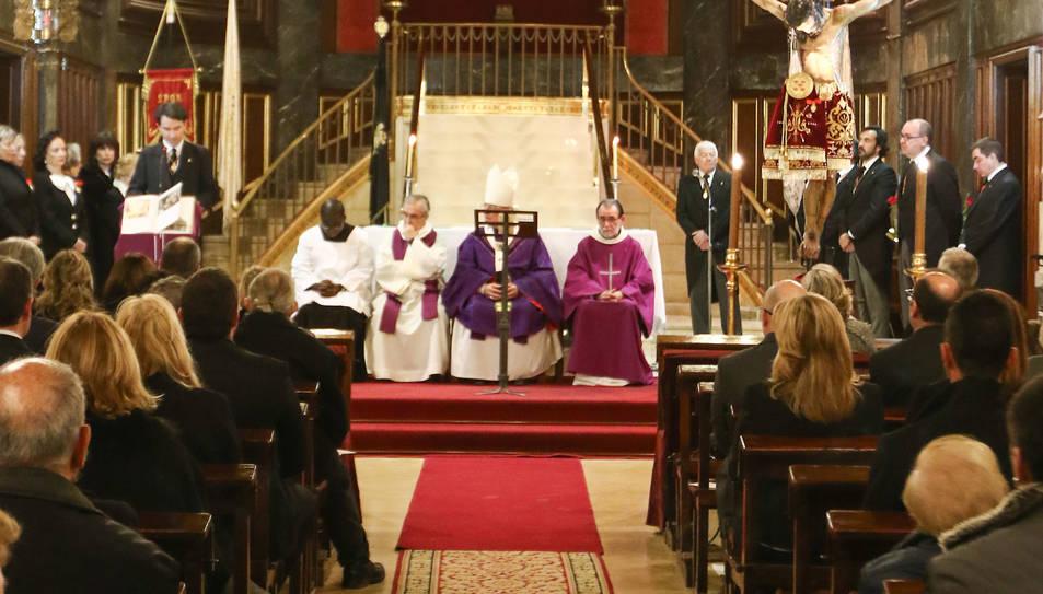 Una imatge d'arxiu de la inauguració de l'escala del Sant Crist.