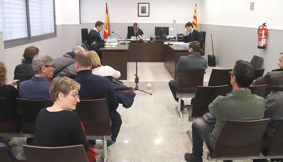 La sala de vistes del jutjat Social número 3 de Tarragona, abans del judici.