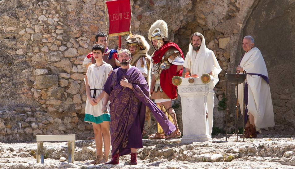 Acte de Tarraco Viva a l'Amfiteatre en l'edició de l'any passat.