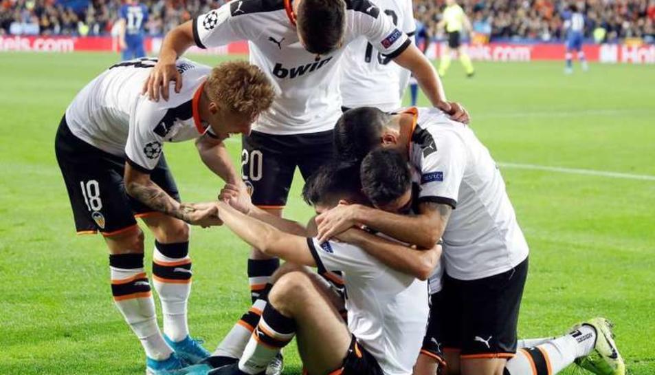 Imatge d'arxius de jugadors del Valencia CF.
