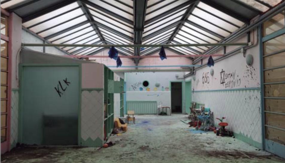 Imatge del projecte que mostra l'estat interior de l'edifici.