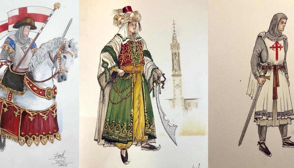Imatge dels personatges del Ball de Cavallets.