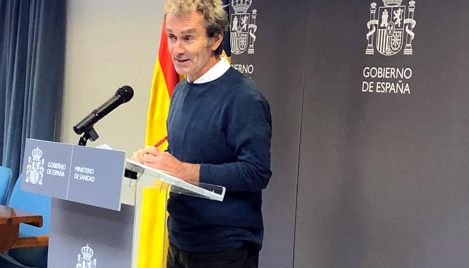 El director del Centre de Coordinació d'Alertes i Emergències, Fernando Simón