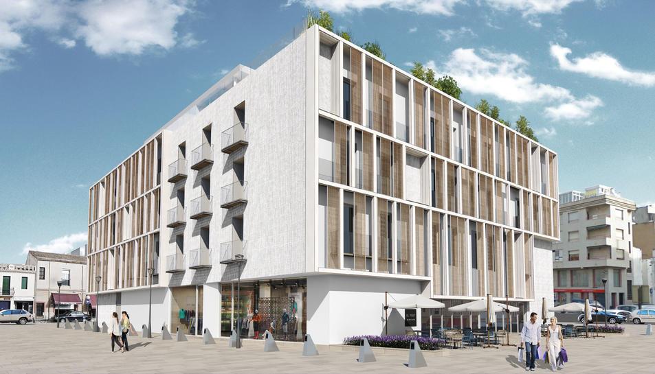 Imatge virtual del projecte del nou Hotel Pòsit de Cambrils.