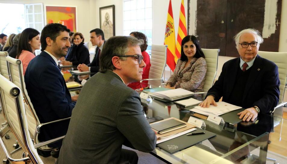 Pla general de la taula de diàleg entre governs aquest 26 de febrer del 2020.