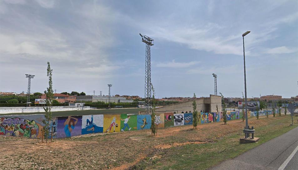 Imatge de la zona esportiva on es va detenir el lladre.