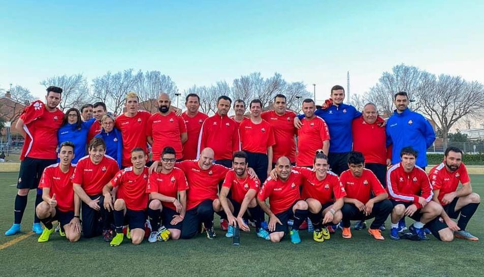 Els jugadors que formen part del Reus Genuine en un entrenament aquesta setmana.