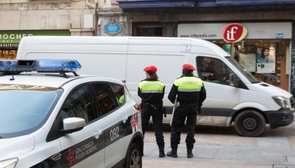 Imatge d'arxiu d'agents de la Policia Municipal de Bilbao.