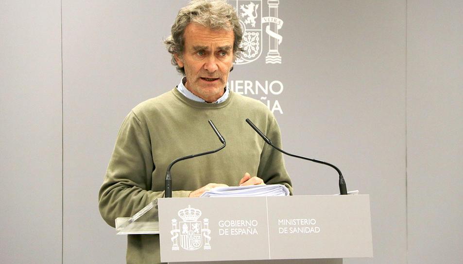 El director del Centre de Coordinació d'Alertes i Emergències Sanitàries, Fernando Simón, en roda de premsa al Ministeri de Sanitat