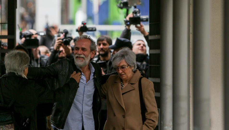 El actor a la seva arribada als jutjats.