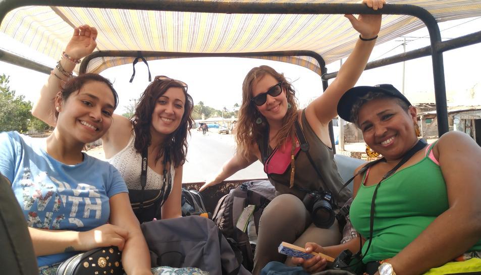 Les quatre professionals d'infermeria que han viatjat a Gàmbia aquest mes de febrer.