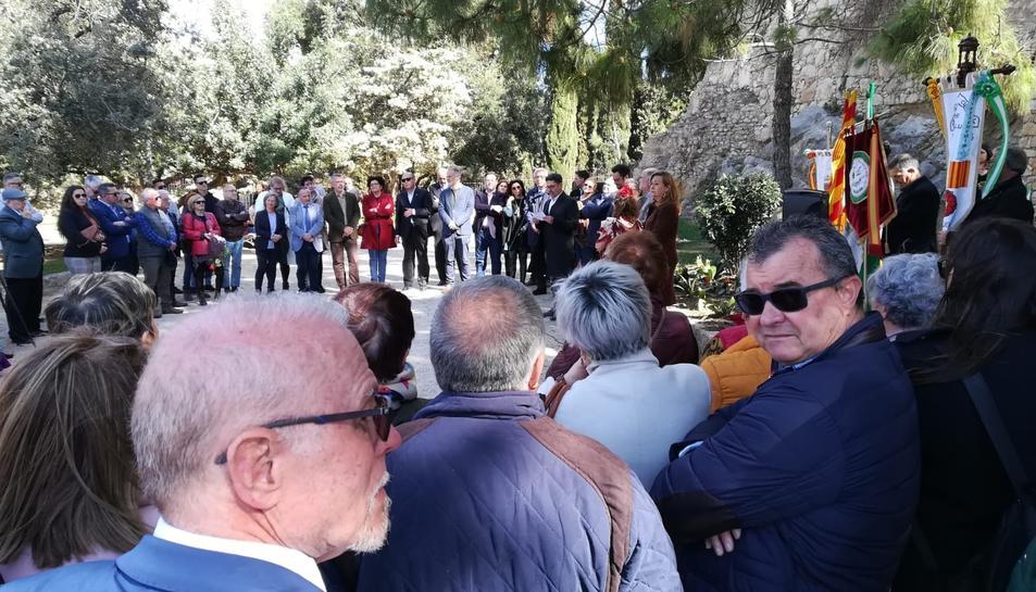 L'ofrena ha tingut lloc al Camp de Mart, on hi ha el monòlit dedicat a Blas Infante,