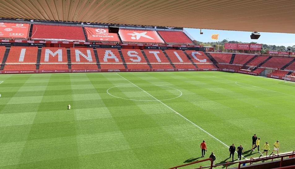 Imatge del Nou Estadi abans de l'inici del partit.