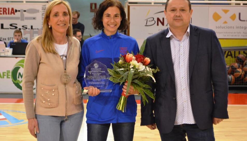 Marta Galimany al reconeixement de dissabte.