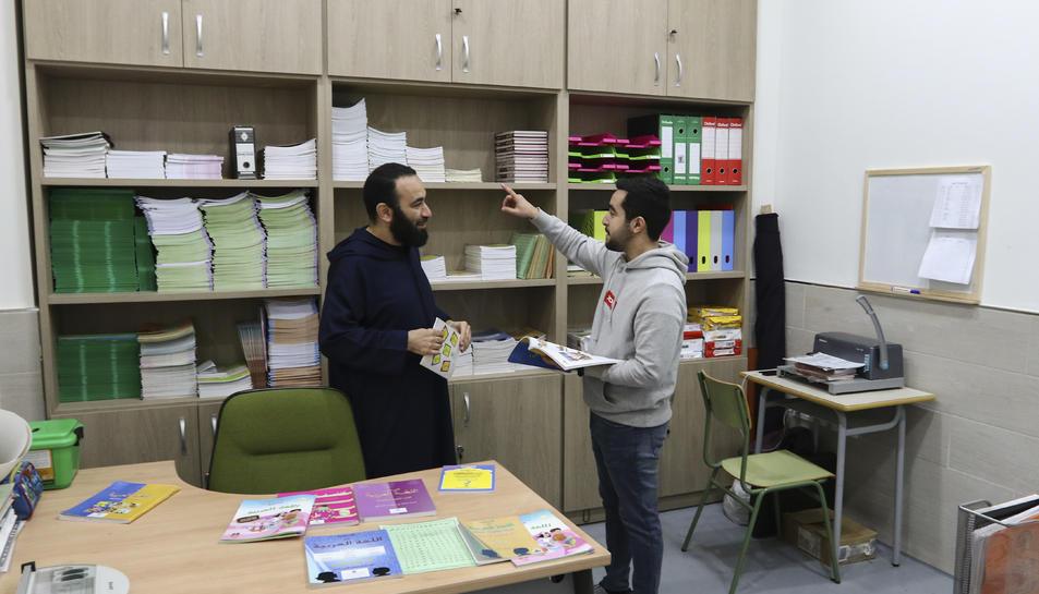 Farid Khattouti i Zakaria Riani, els gestors de l'escola ubicada al polígon Granja Vila.
