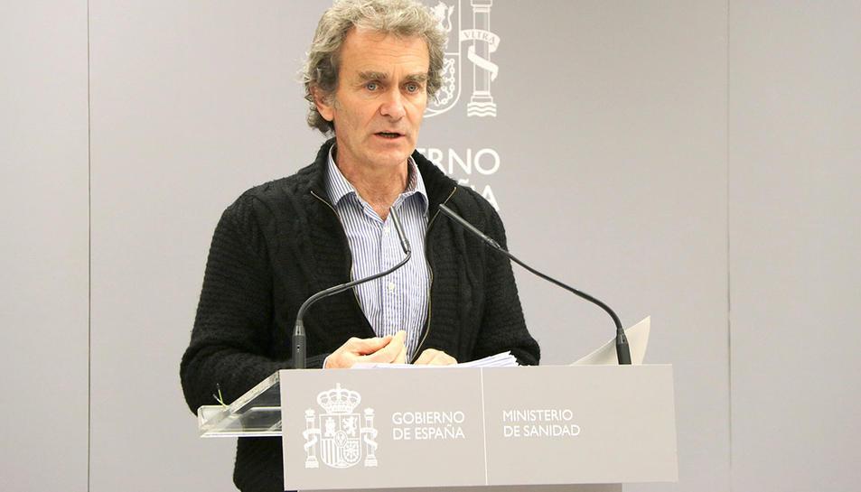 El director del Centre de Coordinació d'Alerta i Emergència Sanitàries del Ministeri de Sanitat, Fernando Simón.