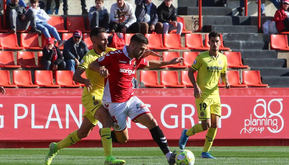 Goldar, durant el Nàstic-Villarreal d'aquesta temporada.