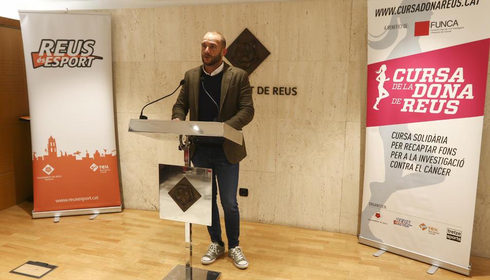 El regidor d'Esports de l'Ajuntament de Reus, Josep Cuerba, ha presentat aquest matí el calendari.