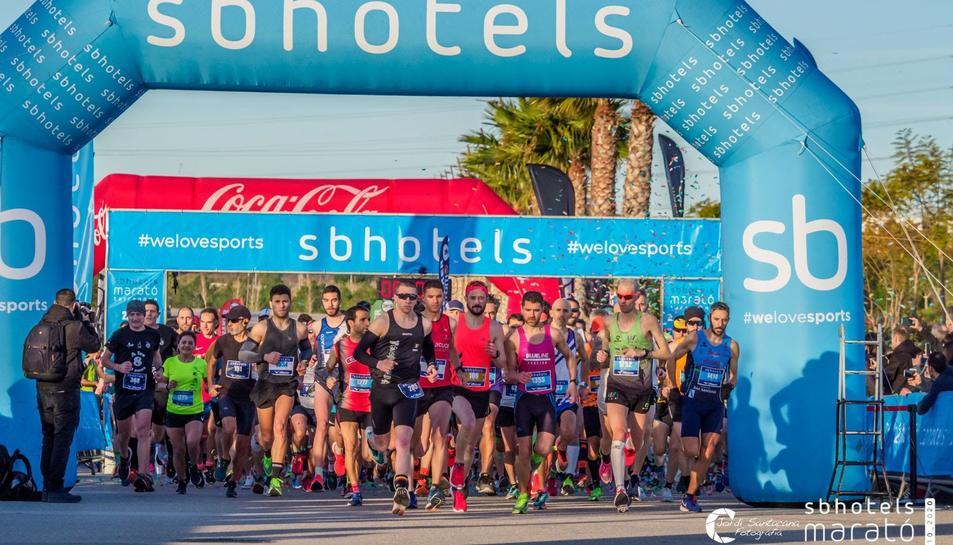 Una imatge de la darrera edició de la Marató, la desena i l'última.
