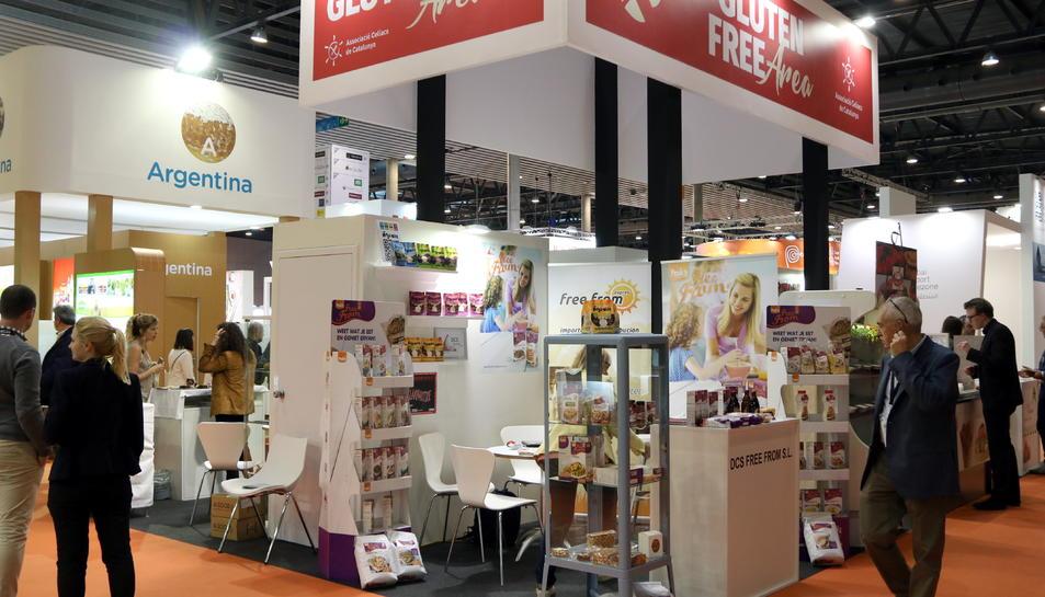 Imatge d'arxiu d'un espai de la Fira Alimentaria 2018 dedicat a productes sense gluten.