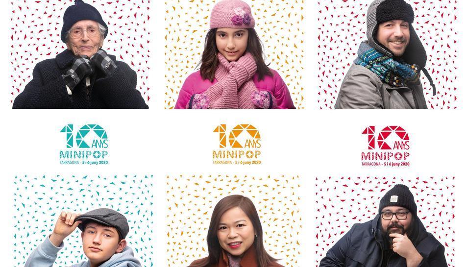 Una mostra de cartells del Minipop dedicats als 'fans' del festival.
