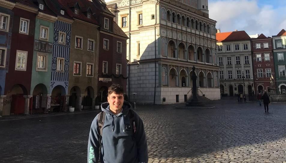 Moreno a la Stary Rynek w Poznaniu, la plaça Major de Poznan.