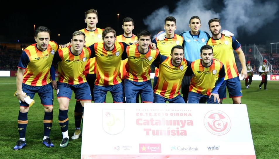 Imatge d'arxiu de la selecció catalana de fubol.