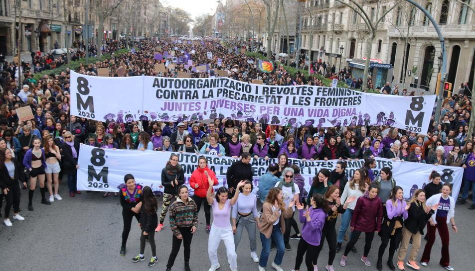 La Plaça Mercadal va ser punt de trobada d'una de les manifestacions d'ahir a Reus