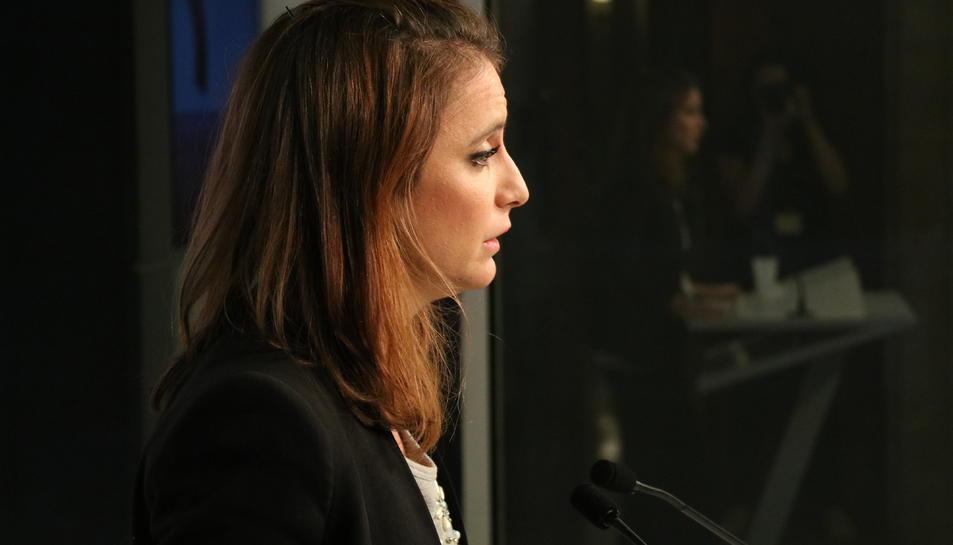 La diputada del PPC Andrea Levy en roda de premsa al Parlament