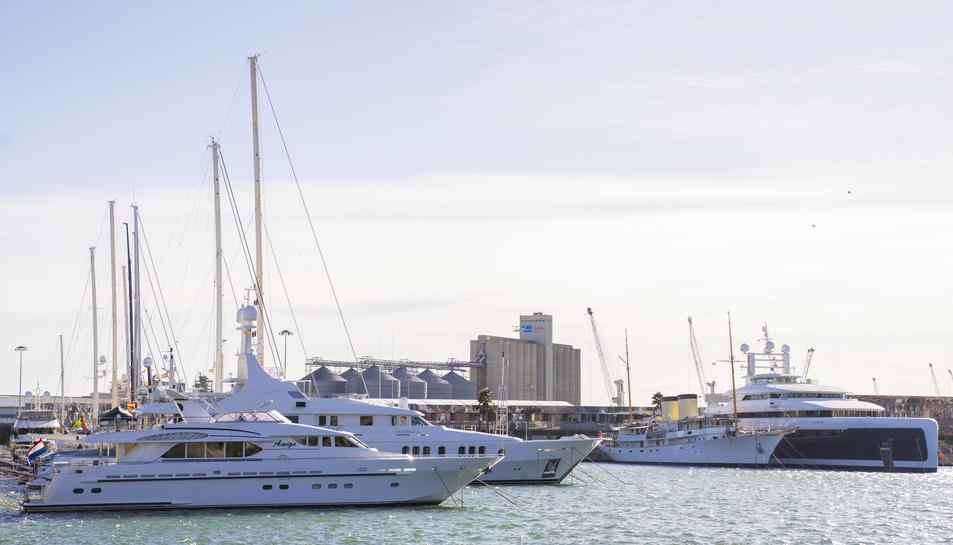 Aspecte que oferia ahir Port Tarraco, des de fa unes setmanes gestionat per la companyia Ocibar.