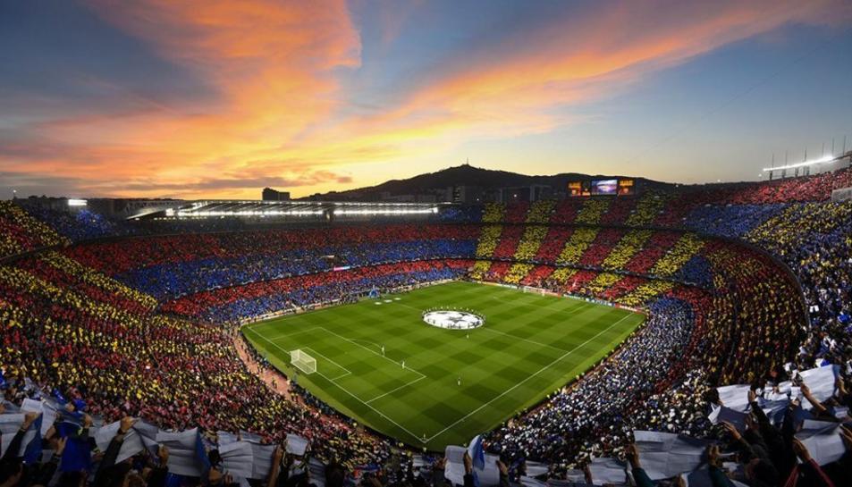 Imatge d'arxiu del Csamp Nou en un partit de la Champions.