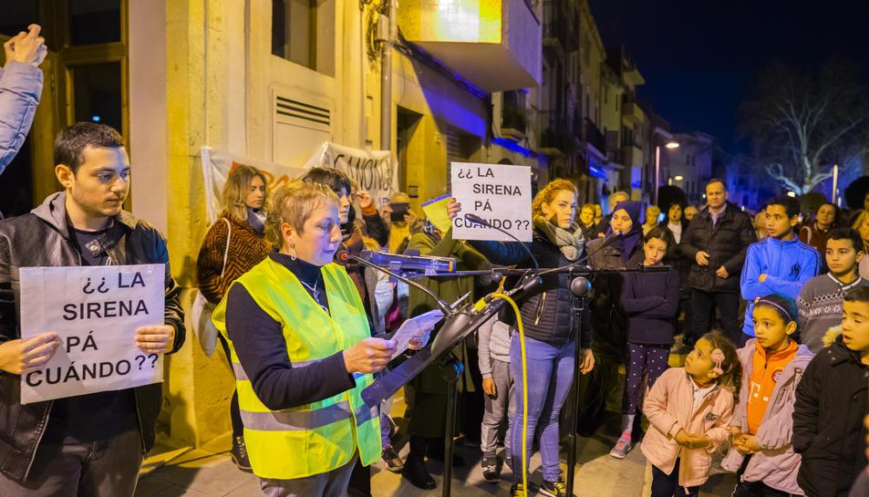 Loli Gutiérrez llegeix un comunicat en una recent manifestació.