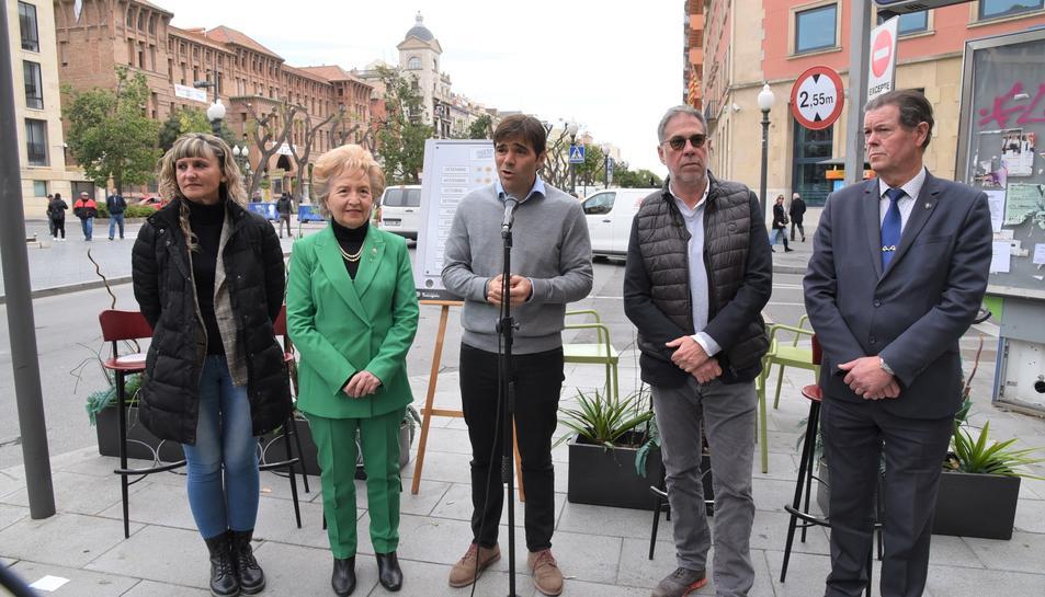 Imatge de la presentació de la campanya 'Pugem Tarragona'.