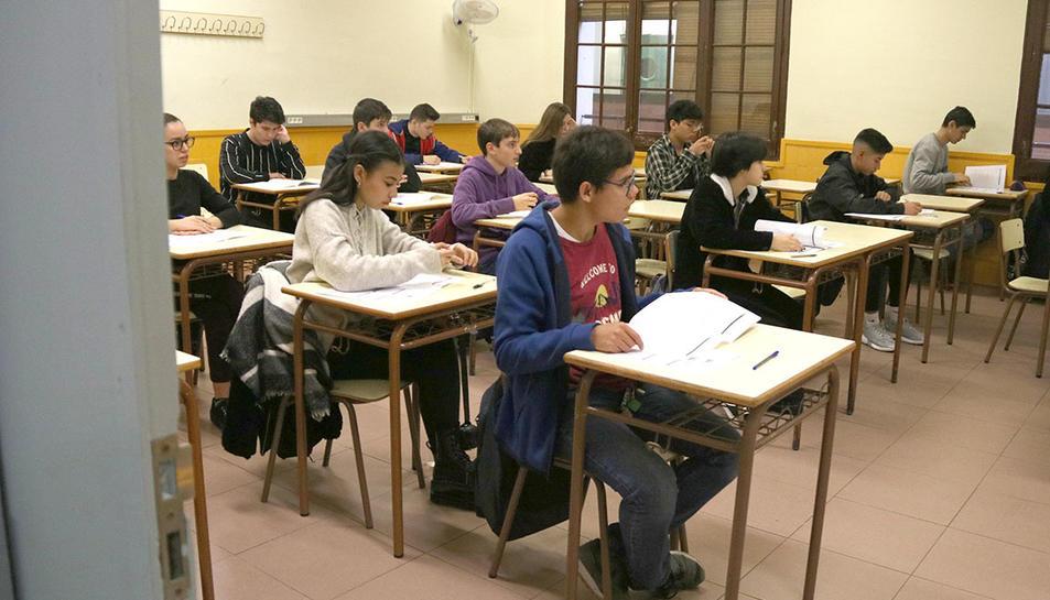 Imatge d'arxiu d0una aula escolar.