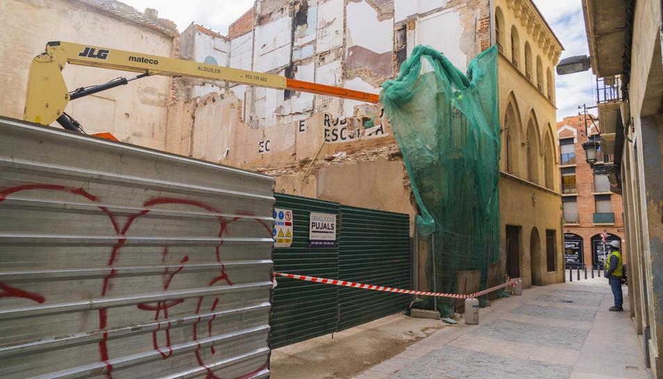 Les obres d'enderroc del número 12 del carrer de la Puríssima Concepció van acabar al novembre.