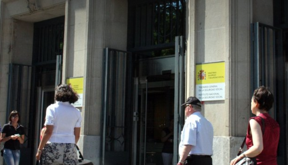 Un edifici de la Seguretat Social