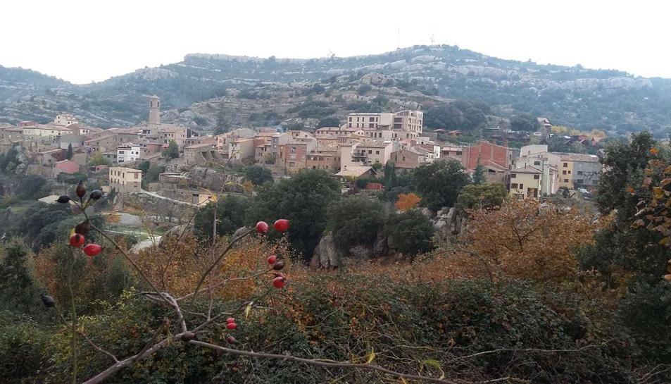 Imatge del petit municipi de Vilanova de Prades.