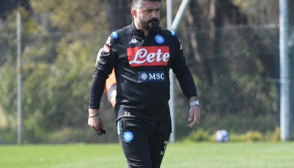 Genaro Gattuso, entrenador del Napoli