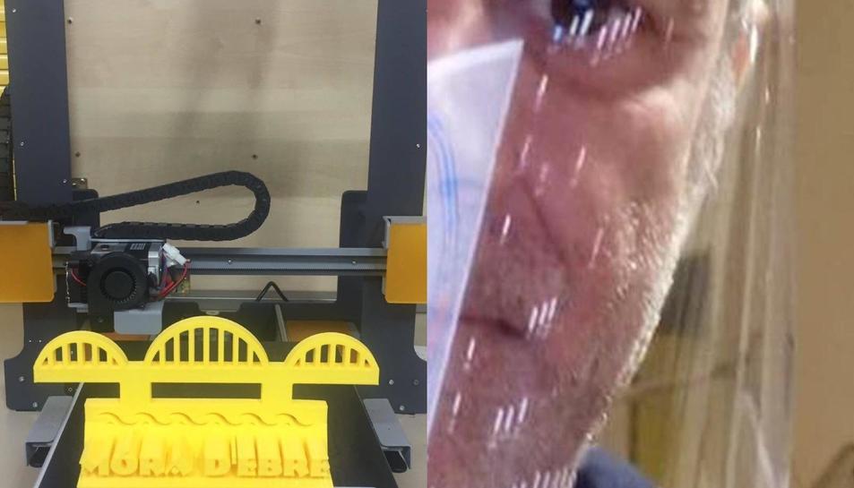 Imatge d'una imrpesora 3D.
