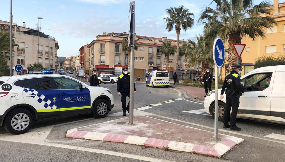 Un dels controls que la Policia Local de Roda ha instal·lat.