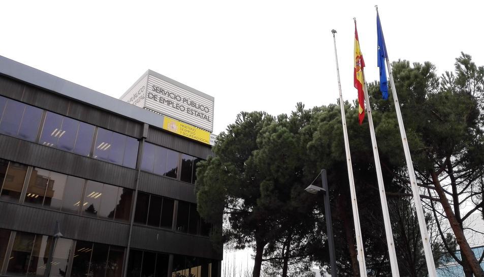 Imatge de la seu central del SEPE a Madrid.