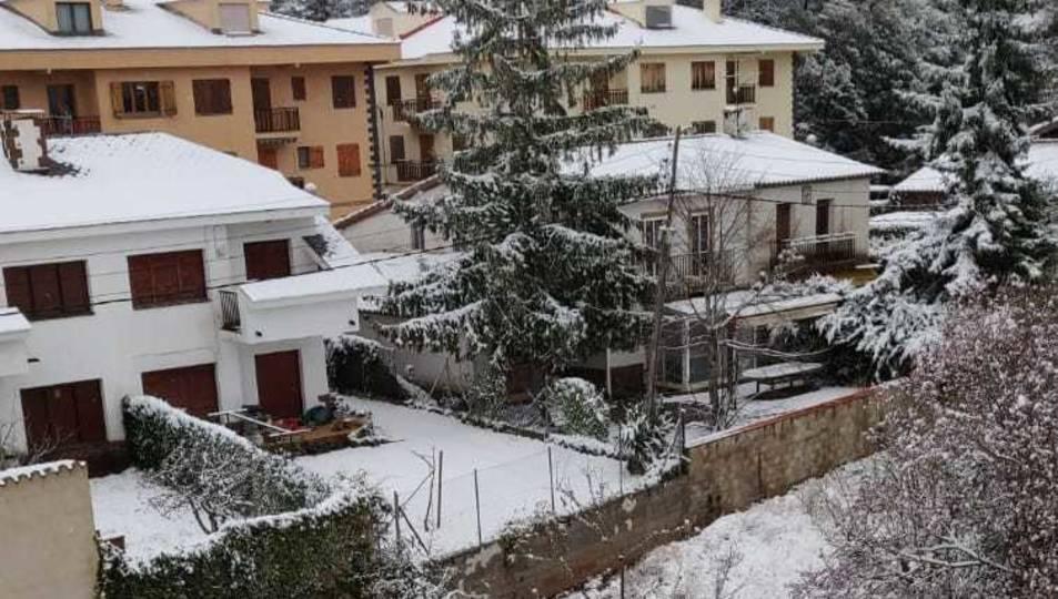 Cae la nieve en Prades