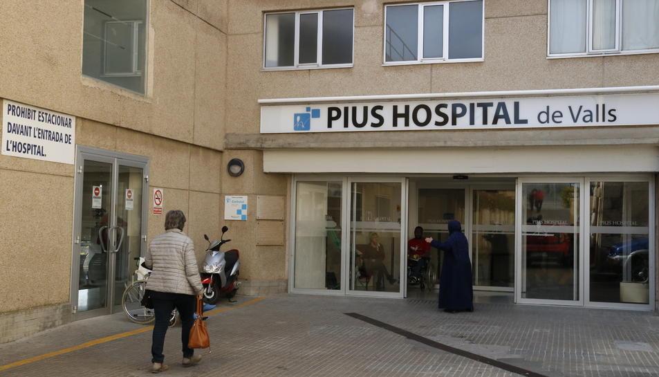 Imatge d'arxiu del 12 de març del Pius Hospital de Valls, on també s'atenen pacients de COVID-19.
