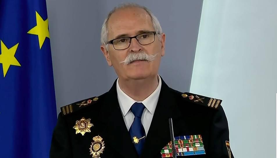 El ubdirector general de Logística e Innovació de la Policía Nacional, el comisari principal José García Molina