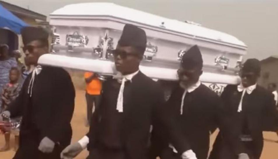 Imatge d'un funeral a Ghana