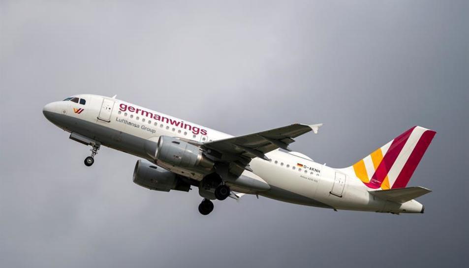 Imatge d'arxiu d'un avió de Germanwings.